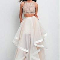 Buy discount Charming Organza Jewel Neckline A-line Two-piece Prom Dress at Dressilyme.com