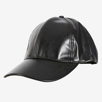 Black Out Pleather Hat