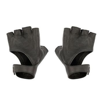 Black Fingerless Gloves   Leather Gloves   Riding Gloves   Fingerless Gloves