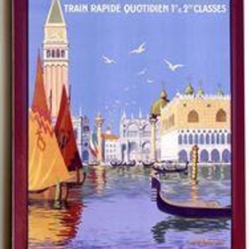 Wood Sign : Venice Italian Gondola Travel