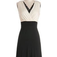 ModCloth Mid-length Sleeveless A-line A Peek of Panache Dress