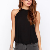 Spike the Punch Black Crop Top