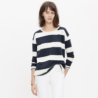 SETLIST PULLOVER TOP IN RUGBY STRIPE