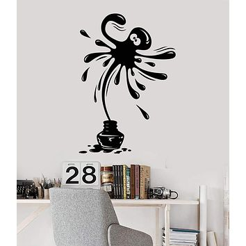 Vinyl Wall Decal Positive Octopus Ink Marine Animal Nursery Stickers Unique Gift (ig4491)