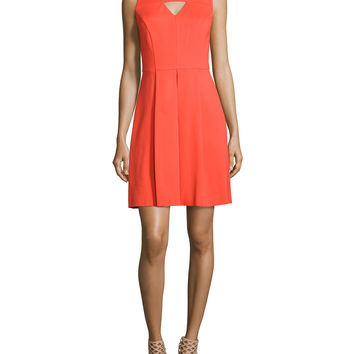 Sleeveless Keyhole Fit & Flare Dress, Size: