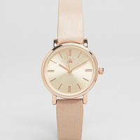 ASOS Sleek Mini Nude Strap Watch