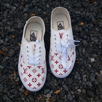 Vans x Supreme x Louis Vuitton Authentic PU Beige Sneaker