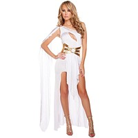 White Sexy Egyptian Queen Cleopatra Halloween Costume