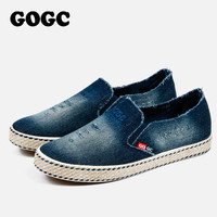 GOGC Fashion Denim Shoes Women Slipony Comfortable Breathable Canvas Shoes Women Casual Shoes Female Footwear Flat Moccasins New