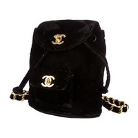 Vintage Mini Velvet Backpack