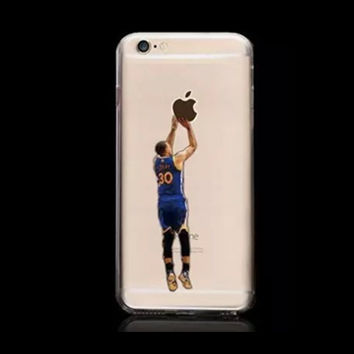 Stephen Curry Golden State Warriors Basketball Stars Hard Plastic Cover Shell Case for iPhone 6/6s