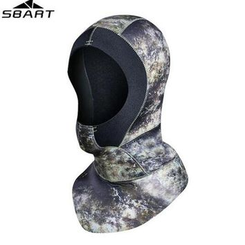 SBART 3mm Neoprene Scuba Diving Hood With Shoulder Spearfishing Equipment Hat Women Men Winter Snorkel Swim Warm Wetsuit Cap