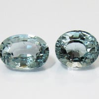 Aquamarine 2 Gemstones 14.46 Very very light Blue Gemstone March Birthstone