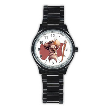 Pirate Pug Men's Stainless Steel Round Dial Analog Watch