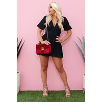 Luck And Love Romper (Black)