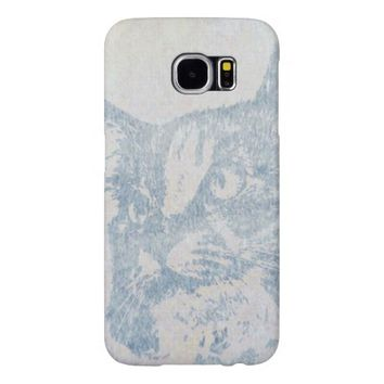 Blue Cat Samsung Galaxy S6 Cases