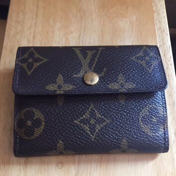 Authentic Louis Vuitton small Monogram Wallet Men Women M61927 Ludlow