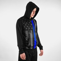 Tactical Thin Blue Line USA Hoodie