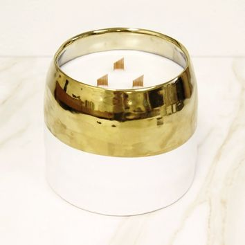 White & Gold Luxe Candle