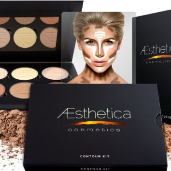 Aesthetica Contour and Highlighting Foundation Palette / Contouring Makeup Kit; Easy-to-Follow, Step-by-Step Instructions Beauty