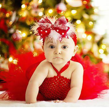 Christmas Red peach blush Baby Dresses infant Toddle Baby Girl party Dress for wedding Birthday Party Photogragh PT39