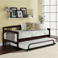 Twin Size Day Bed In Espresso Wood Finish - Trundle Not Included