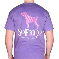 Polka Pointer Pocket Tee in Violet by Southern Fried Cotton