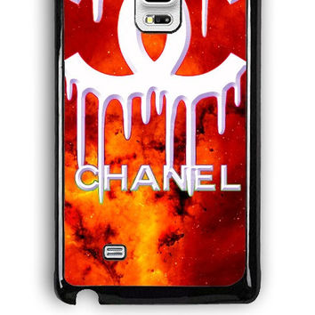 Samsung Galaxy Note Edge Case - Rubber (TPU) Cover with Coco Chanel Logo on Galaxy Design