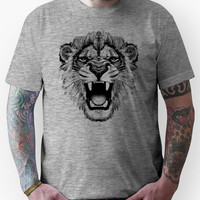 roaring lion t-shirt on lite Unisex T-Shirt