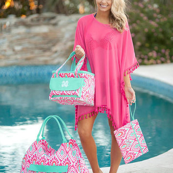 Personalized Beachy Keen Collection - Monogrammed Beach Bag, Cooler Tote, Cosmetic Bag, Beach Towels