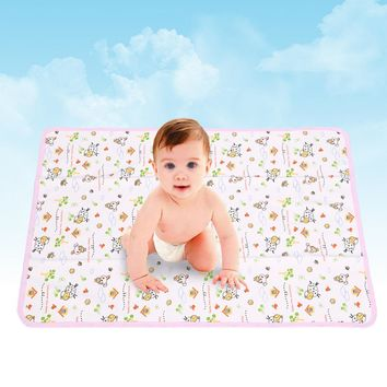 50*70CM Cotton Newborn Baby Changing Pad Urinal Pad For Infant Child Bed Waterproof Cloth diaper inserts Changing Mat For Crib