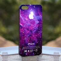 Strom Purple Galaxy Nebula Apple Logo  Kill by monggoditumbas