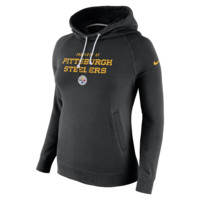 Nike Stadium Rally Funnel Pullover (NFL Steelers) Women's Hoodie