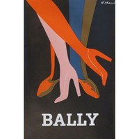 Pre-owned 1979 Original French Fashion Poster Villemot Bally