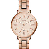 Fossil Women's Jacqueline Rose Gold-Tone Stainless Steel Bracelet Watch 36mm ES3970 - Watches - Jewelry & Watches - Macy's