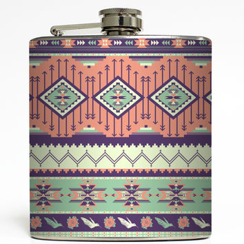 Kayla - Tribal Print Flask