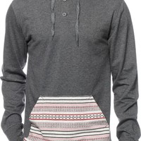 Empyre Tongue Tied Hooded Henley Shirt
