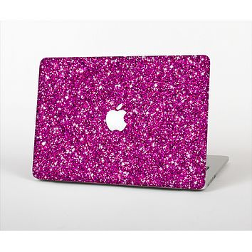 The Bright Pink Glitter Skin Set for the Apple MacBook Air 11""
