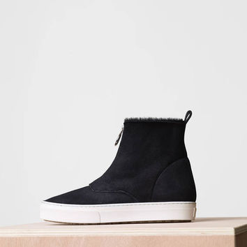 Skate Zipped Bootie in Shearling