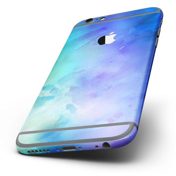 The Teal 424 Absorbed Watercolor Texture Six-Piece Skin Kit for the iPhone 6/6s or 6/6s Plus