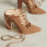 Billy Ella Ankle-Tie Metallic Heels
