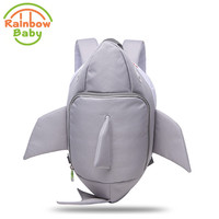 Rainbow Baby 3D Model Shark Kids & Babys Bags Anti Lost School Bags for 2-8 Years Boys and Girls Bagpack Waterproof Backpack