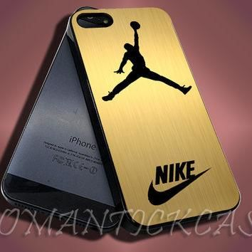 Nike Jordan Gold - iPhone 4/4s/5c/5s/5 Case - Samsung Galaxy S3/S4 Case - Black or Whi