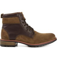 Armani Jeans two-tone lace-up boots