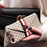 GUCCI Female a wallet phone case shell  for iphone 6/6s,iphone 6p/6splus,iphone 7/8,iphone 7p/8plus, iphonex
