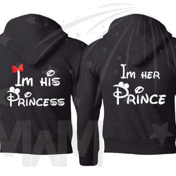 I'm His Princess I'm Her Prince Matching Tshirts, Tank Tops, Hoodies, Sweaters, Free Shipping, Married With Mickey, 115