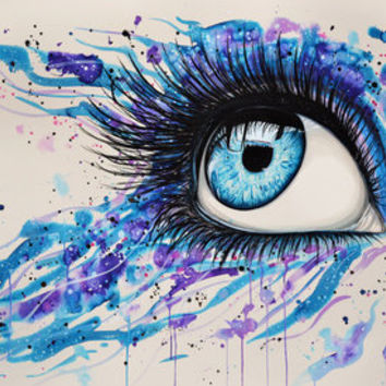 Open your eyes Art Print by PeeGeeArts | Society6