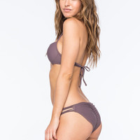 Full Tilt Strap Side Bikini Bottoms Smoke  In Sizes