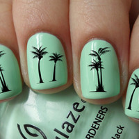 Palm Tree Nail Decals 36 Ct.