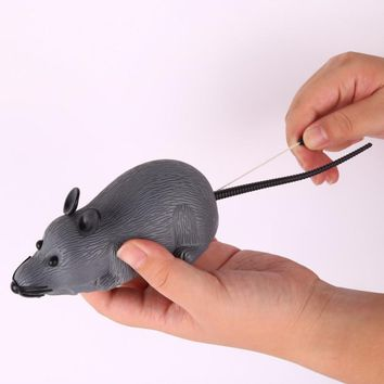 Optional Mice Cats Toy Cute Lifelike Mouse Toy Pull Back Pull String Toys Automatic Go Forward Mouse 2018 New Arrival